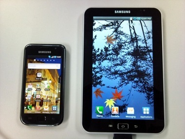 Galaxy S and Galaxy Tab