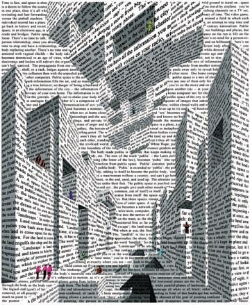Figure 2. City of Words, by Vito Acconi, 1999