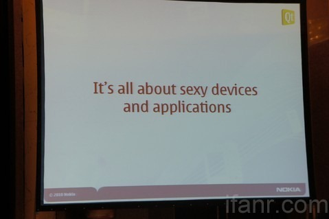 It's all about sexy devices and applications WM