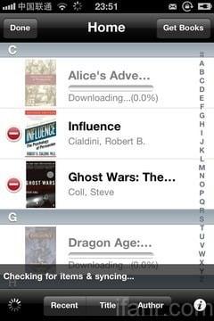iPhone Kindle List