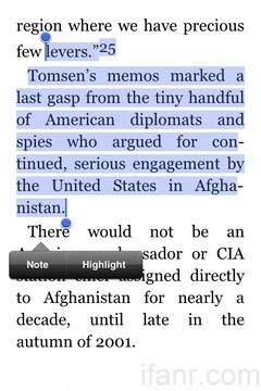 iPhone Kindle Note Highlight
