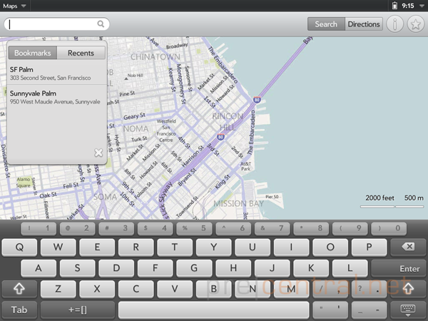 touchpad-emulator-maps-search