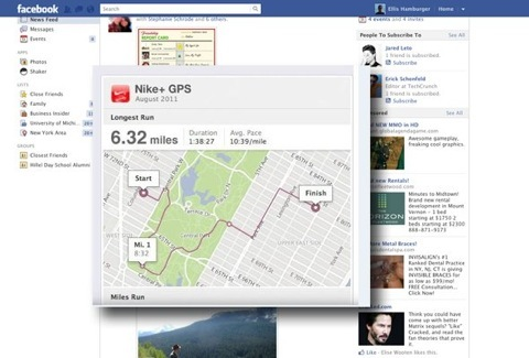 5 facebook touted the nike apps ability to share running routes and times with friends