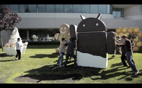 Ice cream sandwich complete statue 0