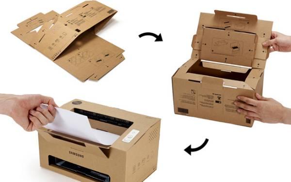 像糖果盒一样的折叠纸板打印机