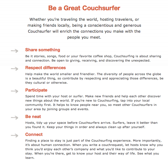 CS- Tips for couchsurfer
