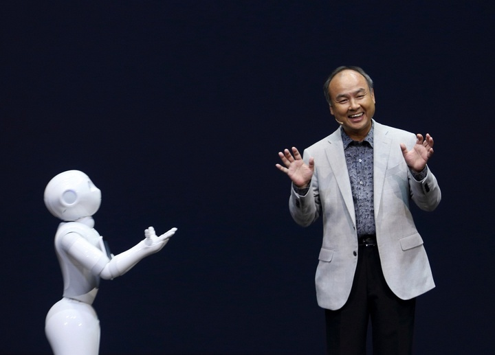 Softbank Chief Executive Officer Masayoshi Son News Conference