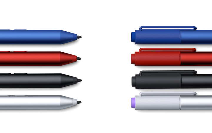 Microsoft Surface 3 Pen_silver_black_red_blue
