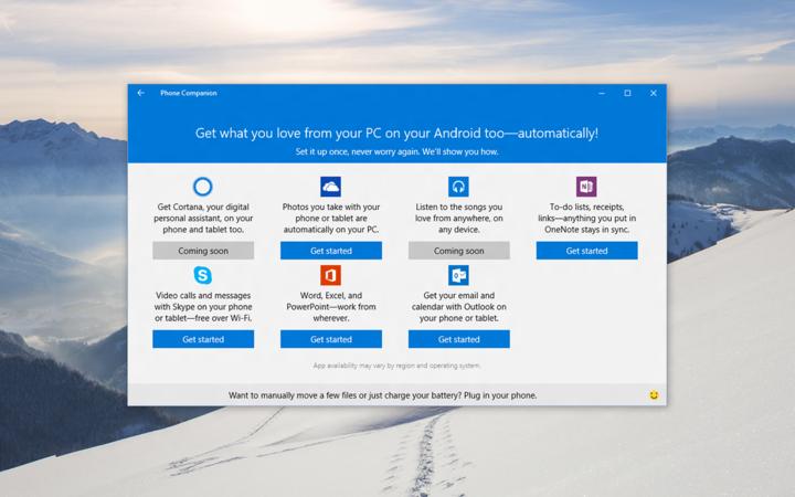 Windows 10 Phone Companion