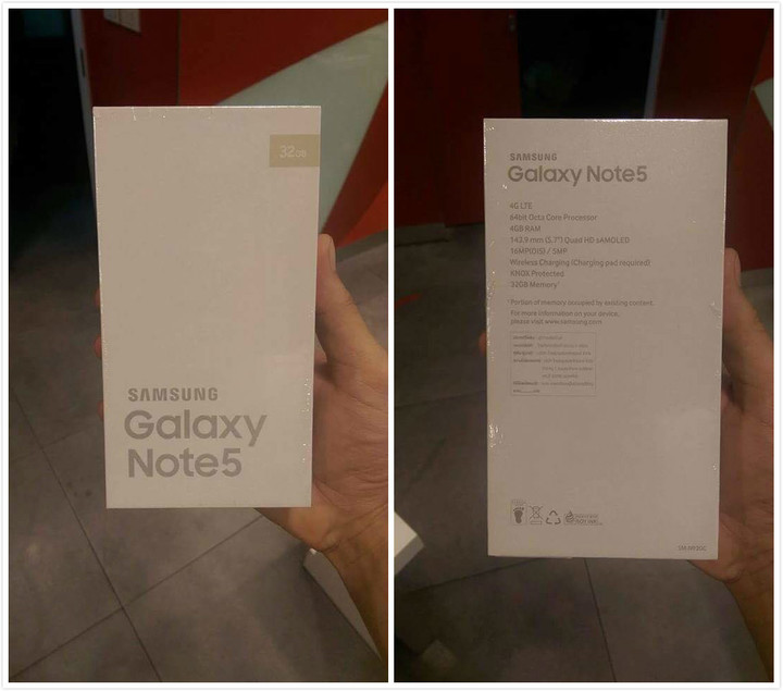 note 5 box
