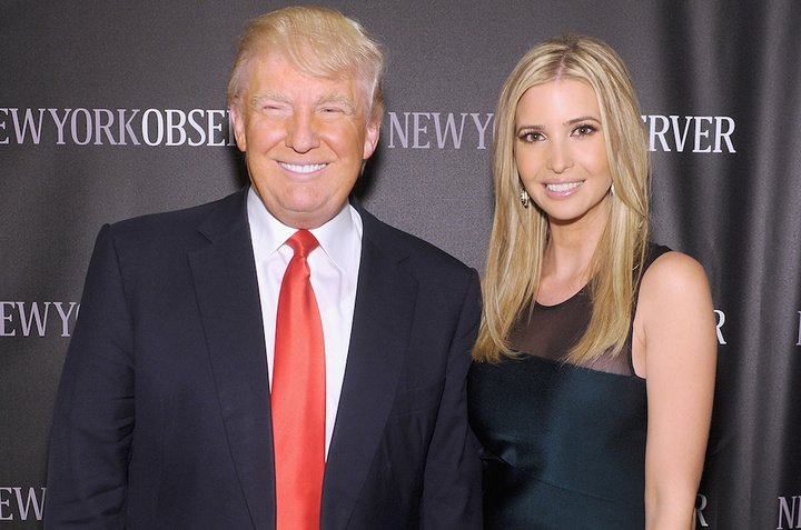 NEW YORK, NY - APRIL 01:  Donald Trump and Ivanka Trump attend The New York Observer Relaunch Event on April 1, 2014 in New York City.  (Photo by Jamie McCarthy/Getty Images)