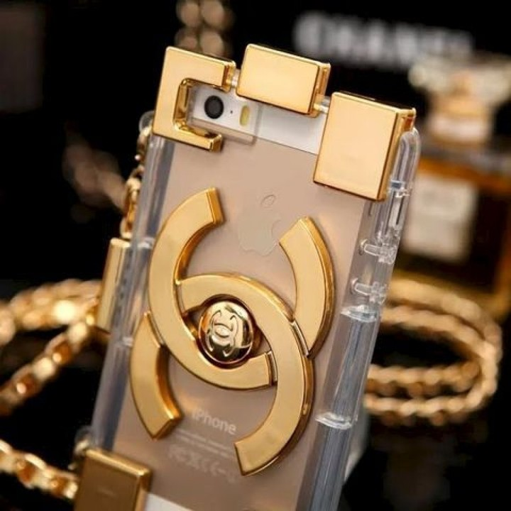Lust4labels Chanel inspired lego brick purse phone case iPhone Gold-900x900