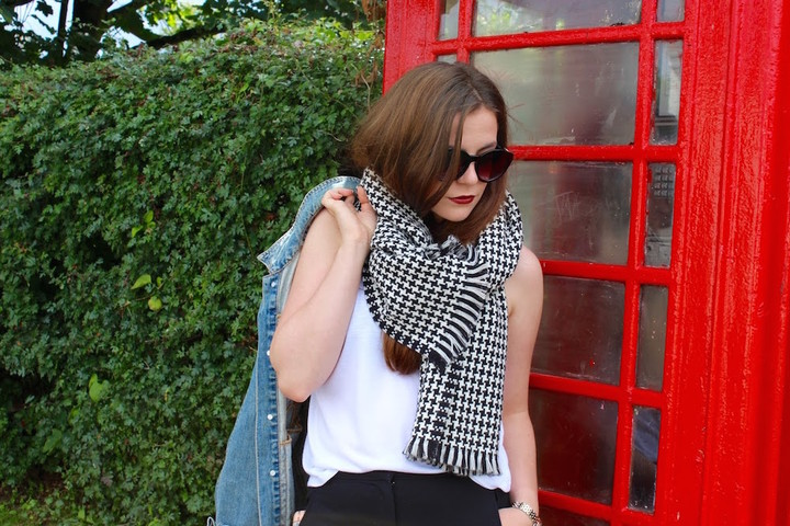 River Island Houndstooth scarf - OOTD 07