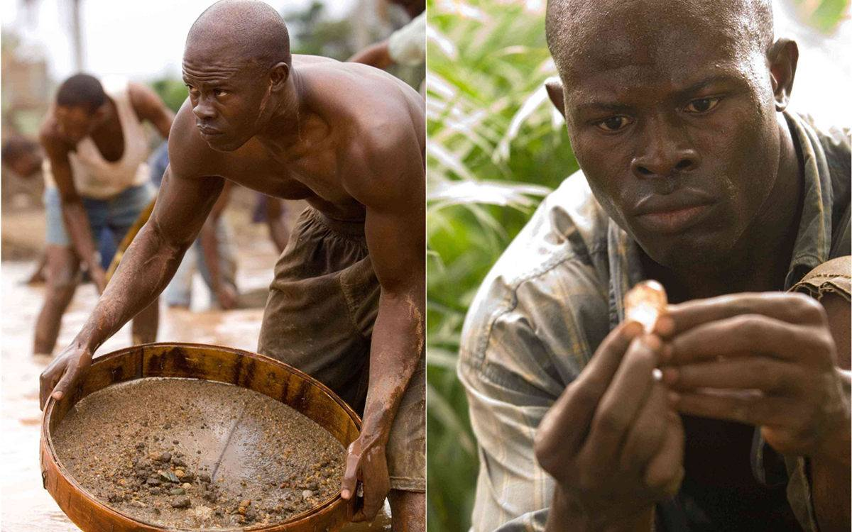 """DJIMON HOUNSOU stars as Solomon Vandy in Warner Bros. Pictures' and Virtual Studios' action drama """"Blood Diamond,"""" distributed by Warner Bros. Pictures. PHOTOGRAPHS TO BE USED SOLELY FOR ADVERTISING, PROMOTION, PUBLICITY OR REVIEWS OF THIS SPECIFIC MOTION PICTURE AND TO REMAIN THE PROPERTY OF THE STUDIO. NOT FOR SALE OR REDISTRIBUTION."""
