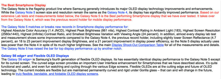 Note 5 display compare