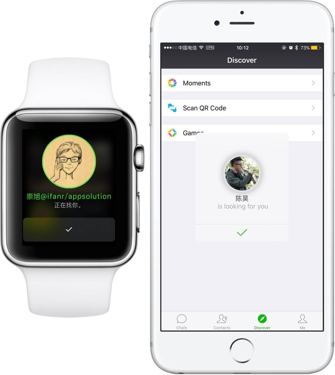 微信第三方应用_[首发] 新版微信评测:Apple Watch 上最好的第三方应用 | 爱范儿