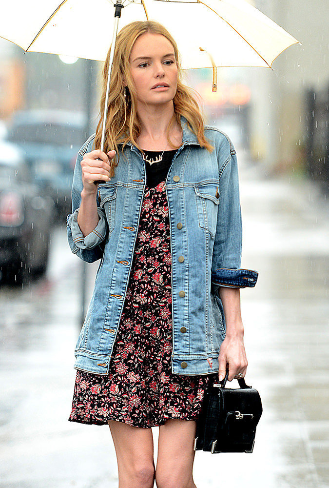 Kate Bosworth leaves a meeting in downtown LA wearing a Guess boyfriend denim jacket. Pictured: Kate Bosworth Ref: SPL902439  031214   Picture by: All Access Photo / Splash News Splash News and Pictures Los Angeles:	310-821-2666 New York:	212-619-2666 London:	870-934-2666 photodesk@splashnews.com