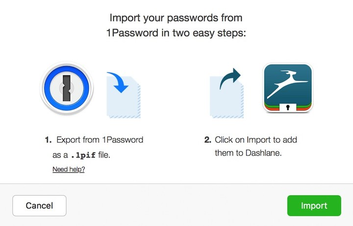Dashlane import 1password backup data