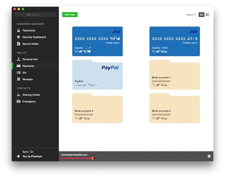 Dashlane payments