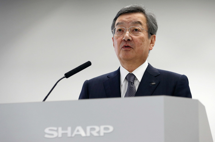 Sharp Corp. President Kozo Takahashi Attends Third-Quarter Earnings News Conference
