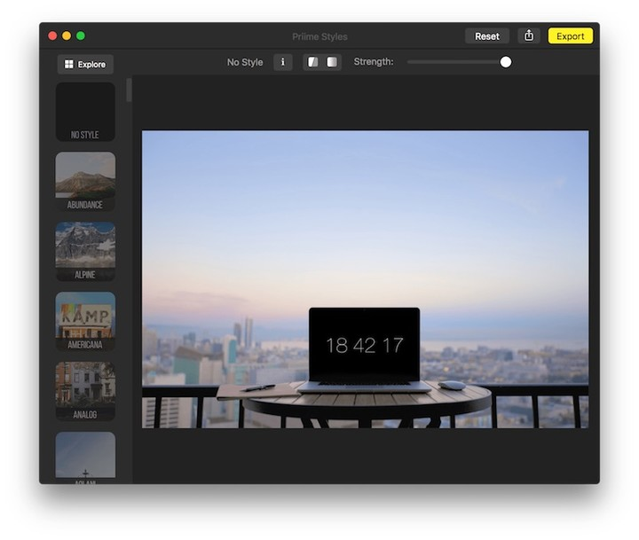 Priime Styles for Mac single editing