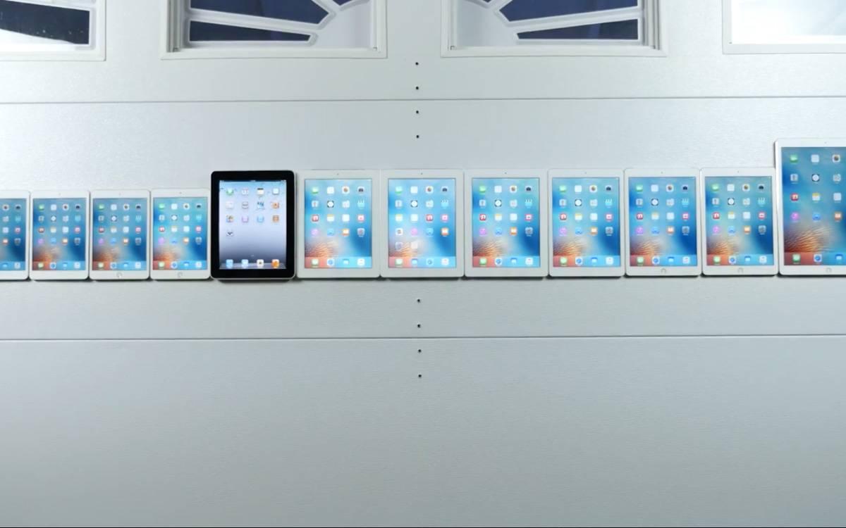 历代 iPad 有多大不同,看完这个视频你就清楚了