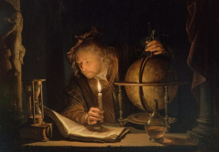 Dou-Gerrit-1613-1675-Astronomer-By-Candlelight-Late-1650s