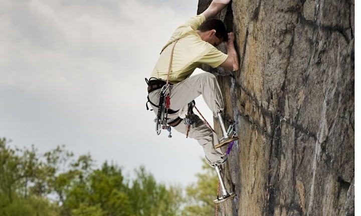 American rock climber, engineer and bio-physicist, Hugh Herr.