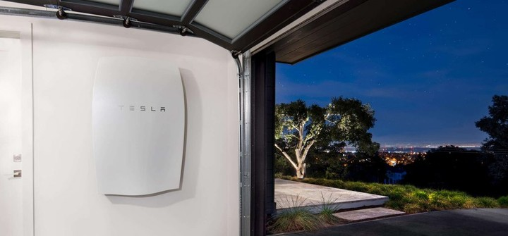 tesla powerwall on the wall
