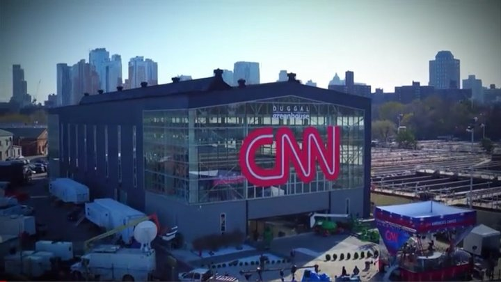 CNN drone and CNN logo