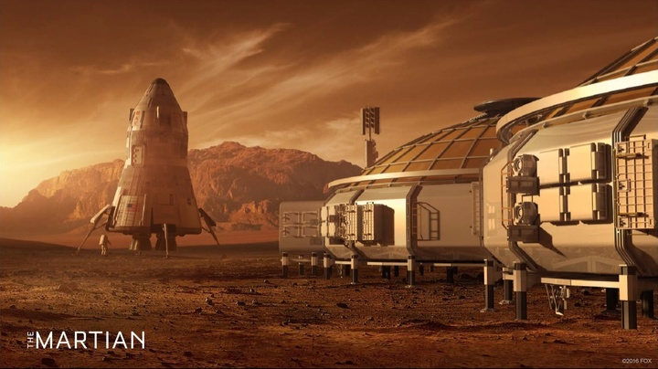 Concept art for The Martian