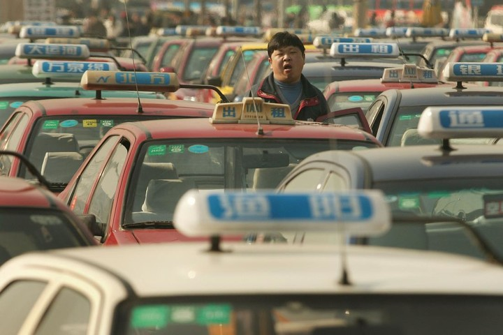Taxi-drivers-on-strike-in-China