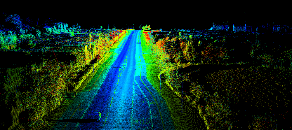 Lidar cloud point