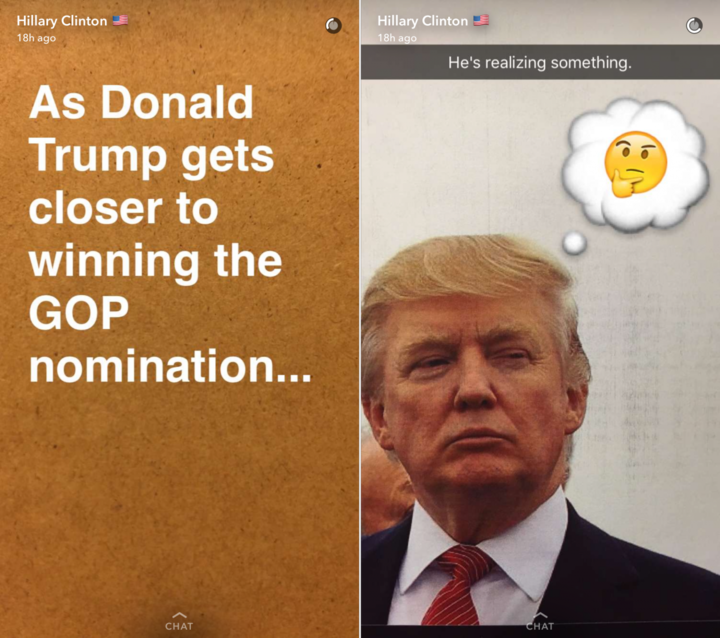 clintons-snapchat-story-starts-by-acknowledging-that-trump-has-a-good-chance-of-winning-the-gop-nomination-for-president