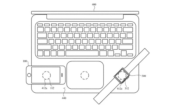 device inductive charging patent macbook